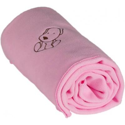 KAARSGAREN-Dětská flísová deka s pejskem růžová