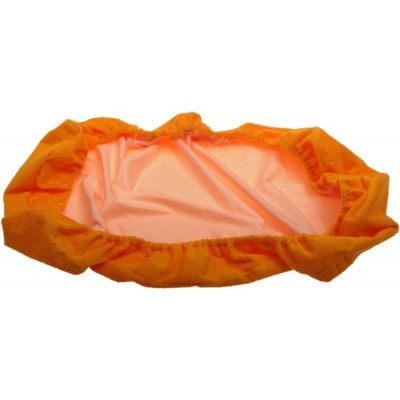 KAARSGAREN-Nepropustné prostěradlo 100x200cm oranžové froté - doprodej