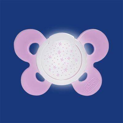 Chicco Šidítko Physio Comfort silikónové fluoreskující 16-36m+, růžová 1ks