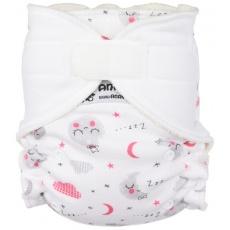 Anavy-rostoucí (4-15 kg) Kalhotková plena na suchý zip Spící měsíček