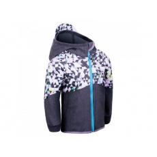 Unuo - Dětská softshellová bunda s fleecem Street, Žíhaná Antracitová, Metricon kluk