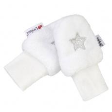 Little Angel-Rukavice bez palce MAZLÍK Outlast® - bílá/sv.šedá Velikost: 0