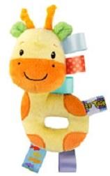 Bright Starts Chrastítko plyšové Taggies, Žirafa  0m+