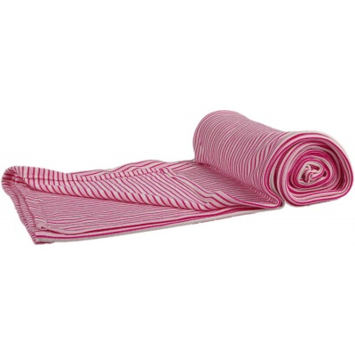 KAARSGAREN-Bambusová deka růžové proužky oboulíc