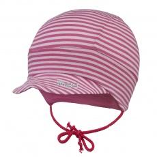 Little Angel-Kšiltovka tenká zavazovací Outlast® - pruh sv. růžový Velikost: 1 | 36-38 cm