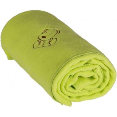 KAARSGAREN-Dětská flísová deka s pejskem limeta