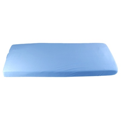 KAARSGAREN-Modré prostěradlo bio bavlna 60 x 120 cm