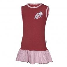 Little Angel-Šaty tenké Outlast® - bordová/pruh bordový Velikost: 92