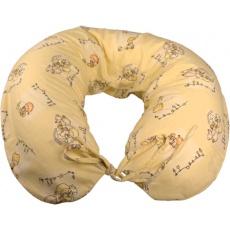 KAARSGAREN-Kojící polštař flanelový žlutý miminka