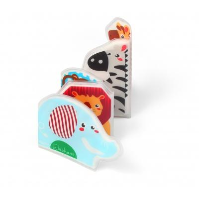 BabyOno Mini knížka do vody, pískací - Sloník a kamarádi