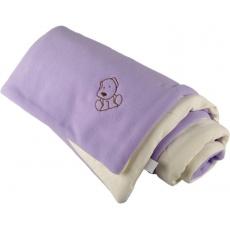 KAARSGAREN-Zateplená dětská deka fialovo smetanová - doprodej