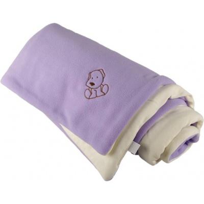 KAARSGAREN-Zateplená dětská deka fialovo smetanová