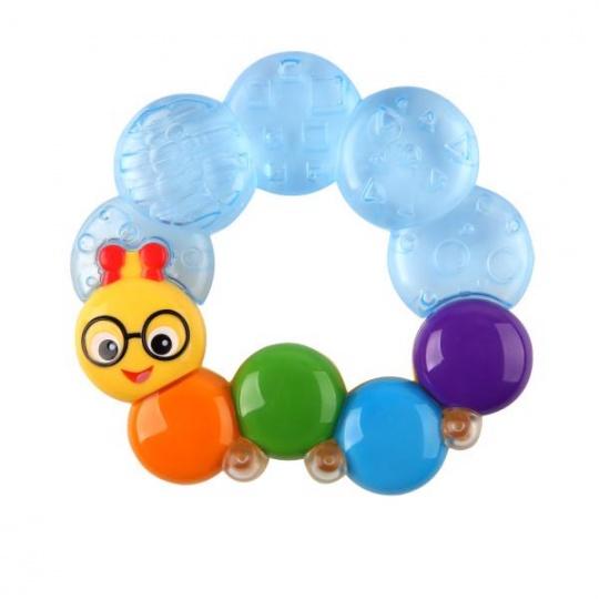 BABY EINSTEIN Kousátko plněné vodou Teether-pillar™ modrá 3m+