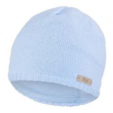Little Angel-Čepice pletená hladká Outlast ® - sv.modrá Velikost: 2 | 39-41 cm
