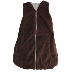 KAARSGAREN-Dětský spací pytel čokoládový 90 cm