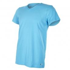 Little Angel-Tričko pánské KR tenké výstřih V Outlast® - azurově modrá Velikost: M