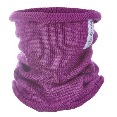 Little Angel-Nákrčník pletený tenký Outlast ® - fialová Velikost: 4, 45-48 cm