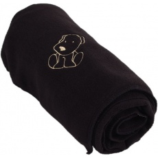 KAARSGAREN-Dětská flísová deka s pejskem černá
