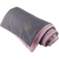KAARSGAREN-Zateplená dětská deka šedo růžová - doprodej