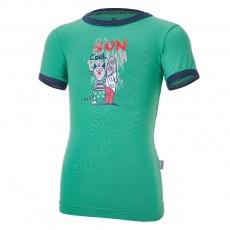 Little Angel-Tričko tenké KR obrázek Outlast® - zelená/tm.modrá Velikost: 86