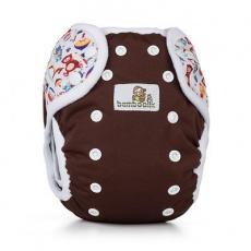 Bamboolik-Svrchní kalhotky DUO PAT-Čokoládová+Hračky