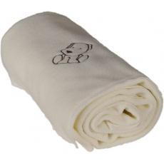 KAARSGAREN-Dětská flísová deka s pejskem smetanová