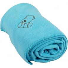 KAARSGAREN-Dětská flísová deka s pejskem světlá aqua