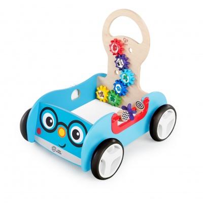 Baby Einstein Hračka dřevěná aktivní vlečka Discovery Buggy HAPE 12m+