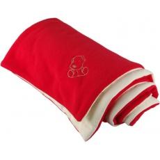 KAARSGAREN-Zateplená dětská deka červeno smetanová - doprodej