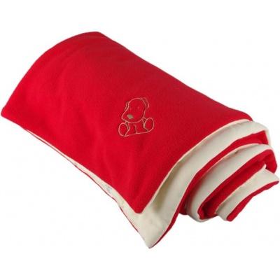 KAARSGAREN-Zateplená dětská deka červeno smetanová