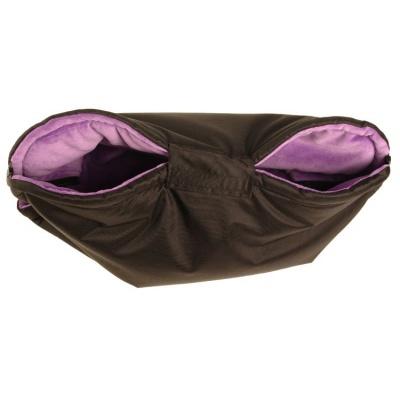 KAARSGAREN-Nový rukávník na kočárek černo fialový