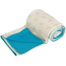 KAARSGAREN-Dětská deka bio beránci aqua merino