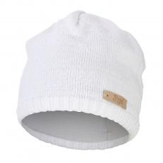 Little Angel-Čepice pletená hladká Outlast ® - bílá Velikost: 2 | 39-41 cm