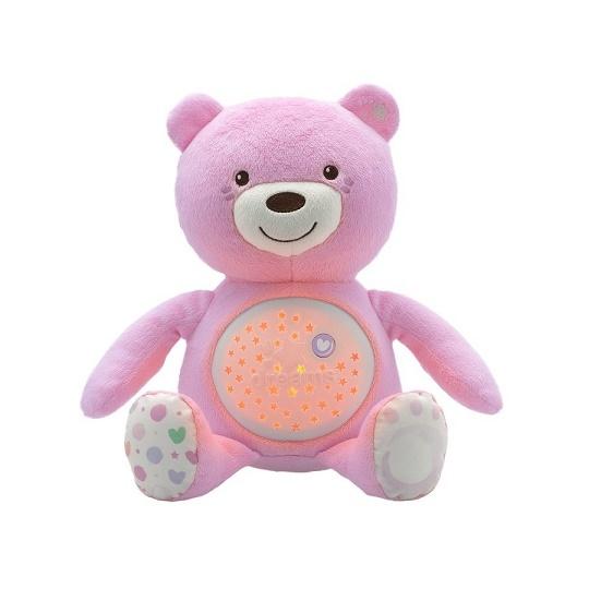 Chicco Hračka medvídek s projektorem - růžová