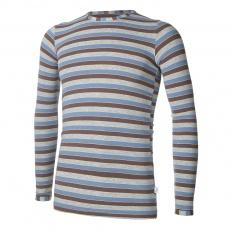Little Angel-Tričko smyk DR Outlast® - pruh modrohnědošedý Velikost: 146