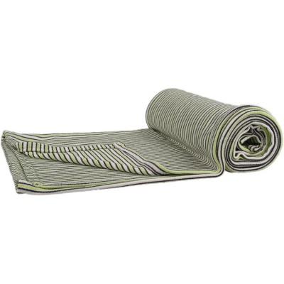 KAARSGAREN-Deka šedo-zelený proužek 150 x 200 cm