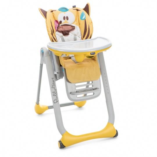 CHICCO Židlička jídelní Polly 2 Start - PEACEFULL JUNGLE