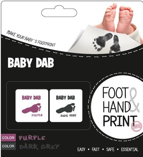 Baby Dab Barva na dětské otisky 2ks fialová, šedá