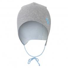 Little Angel-Čepice zavazovací podšitá Outlast ® - šedý melír/sv.modrá Velikost: 2 | 39-41 cm