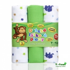 T-Tomi-Látkové TETRA pleny, zelení krokodýli - TOP KVALITA