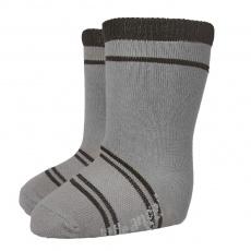 Little Angel-Ponožky STYL ANGEL - Outlast® - tm.šedá/černá Velikost: 15-19 | 10-13 cm
