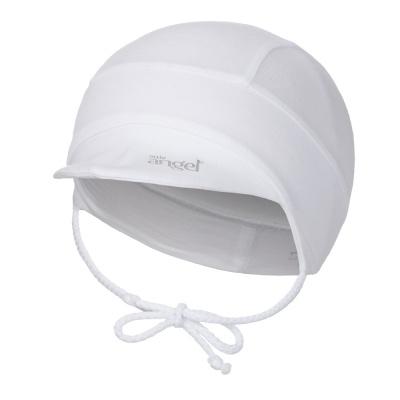 Little Angel-Kšiltovka tenká zavazovací Outlast® - bílá Velikost: 1, 36-38 cm