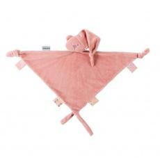 NATTOU Maxi mazlíček medvídek Lapidou 100% recycled old pink 65cmx40cm