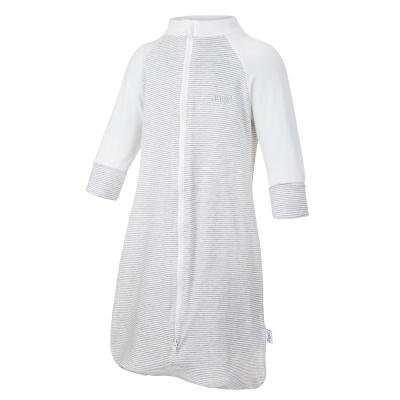 Little Angel-Overal spací pytel Outlast® - pruh bílošedý melír/bílá Velikost: 50