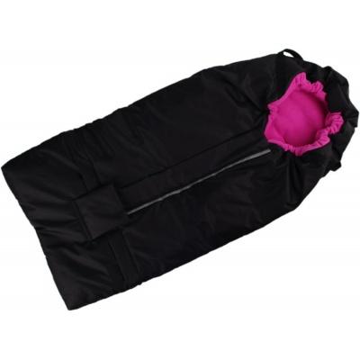 KAARSGAREN-Fusak černo-růžový s fleece podšívkou