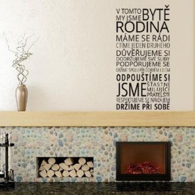 HouseDecor-Dekorativní samolepka na zeď-V tomto bytě