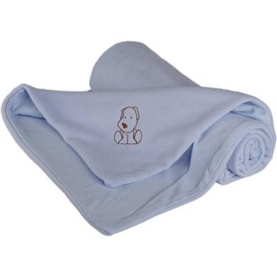 KAARSGAREN-Dětská deka modrá s pejskem fleece bavlna