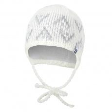 Little Angel-Čepice pletená zavazovací šipky Outlast ® - natur Velikost: 2 | 39-41 cm
