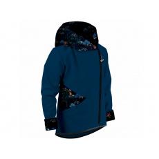 Unuo - Dětská softshellová bunda s fleecem Cross, Kobaltová, Čarovná liška