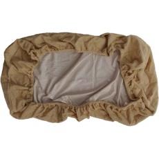 KAARSGAREN-Nepropustné prostěradlo 90x200cm béžové froté bavlna